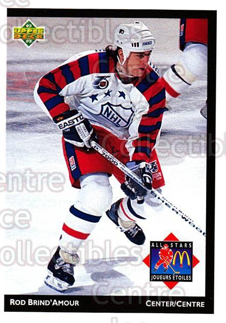 1992-93 McDonalds Upper Deck #16 Rod Brind'Amour<br/>11 In Stock - $1.00 each - <a href=https://centericecollectibles.foxycart.com/cart?name=1992-93%20McDonalds%20Upper%20Deck%20%2316%20Rod%20Brind'Amour...&quantity_max=11&price=$1.00&code=10971 class=foxycart> Buy it now! </a>