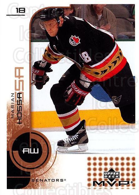 2002-03 Upper Deck MVP #127 Marian Hossa<br/>4 In Stock - $1.00 each - <a href=https://centericecollectibles.foxycart.com/cart?name=2002-03%20Upper%20Deck%20MVP%20%23127%20Marian%20Hossa...&quantity_max=4&price=$1.00&code=109721 class=foxycart> Buy it now! </a>