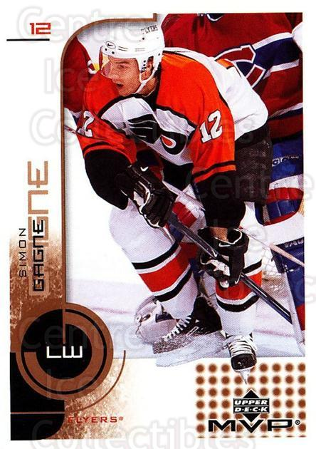 2002-03 Upper Deck MVP #138 Simon Gagne<br/>4 In Stock - $1.00 each - <a href=https://centericecollectibles.foxycart.com/cart?name=2002-03%20Upper%20Deck%20MVP%20%23138%20Simon%20Gagne...&quantity_max=4&price=$1.00&code=109733 class=foxycart> Buy it now! </a>