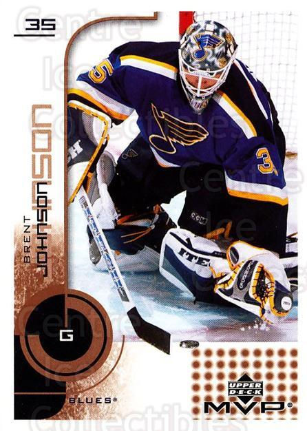 2002-03 Upper Deck MVP #158 Brent Johnson<br/>5 In Stock - $1.00 each - <a href=https://centericecollectibles.foxycart.com/cart?name=2002-03%20Upper%20Deck%20MVP%20%23158%20Brent%20Johnson...&quantity_max=5&price=$1.00&code=109755 class=foxycart> Buy it now! </a>