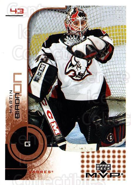 2002-03 Upper Deck MVP #24 Martin Biron<br/>5 In Stock - $1.00 each - <a href=https://centericecollectibles.foxycart.com/cart?name=2002-03%20Upper%20Deck%20MVP%20%2324%20Martin%20Biron...&quantity_max=5&price=$1.00&code=109824 class=foxycart> Buy it now! </a>