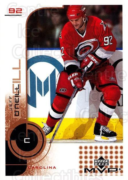 2002-03 Upper Deck MVP #35 Jeff O'Neill<br/>6 In Stock - $1.00 each - <a href=https://centericecollectibles.foxycart.com/cart?name=2002-03%20Upper%20Deck%20MVP%20%2335%20Jeff%20O'Neill...&quantity_max=6&price=$1.00&code=109836 class=foxycart> Buy it now! </a>