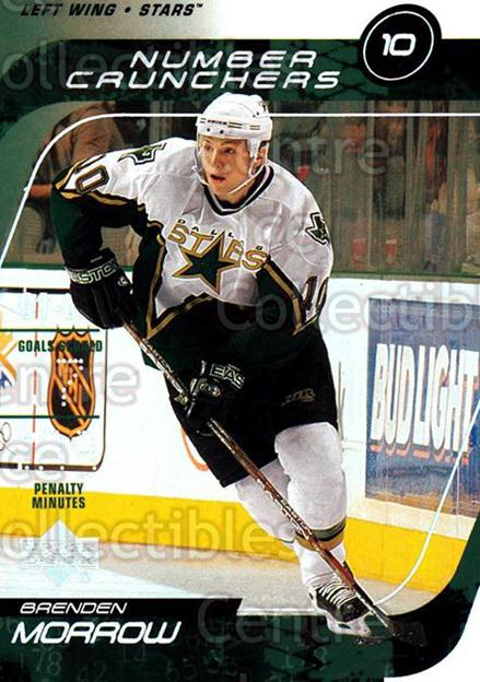 2002-03 Upper Deck Number Crunchers #3 Brenden Morrow<br/>8 In Stock - $2.00 each - <a href=https://centericecollectibles.foxycart.com/cart?name=2002-03%20Upper%20Deck%20Number%20Crunchers%20%233%20Brenden%20Morrow...&quantity_max=8&price=$2.00&code=109844 class=foxycart> Buy it now! </a>
