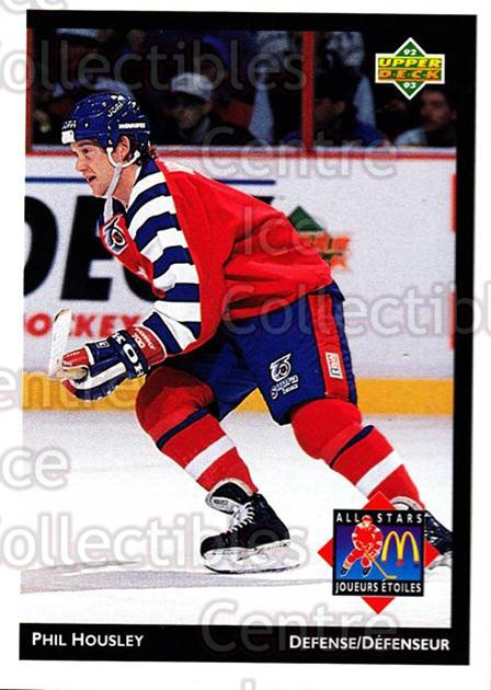 1992-93 McDonalds Upper Deck #8 Phil Housley<br/>11 In Stock - $1.00 each - <a href=https://centericecollectibles.foxycart.com/cart?name=1992-93%20McDonalds%20Upper%20Deck%20%238%20Phil%20Housley...&quantity_max=11&price=$1.00&code=10989 class=foxycart> Buy it now! </a>