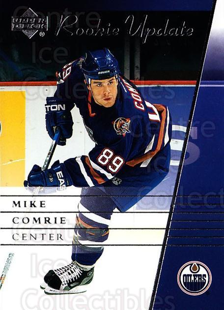2002-03 Upper Deck Rookie Update #41 Mike Comrie<br/>6 In Stock - $1.00 each - <a href=https://centericecollectibles.foxycart.com/cart?name=2002-03%20Upper%20Deck%20Rookie%20Update%20%2341%20Mike%20Comrie...&quantity_max=6&price=$1.00&code=109912 class=foxycart> Buy it now! </a>