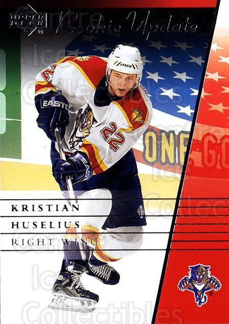 2002-03 Upper Deck Rookie Update #44 Kristian Huselius<br/>5 In Stock - $1.00 each - <a href=https://centericecollectibles.foxycart.com/cart?name=2002-03%20Upper%20Deck%20Rookie%20Update%20%2344%20Kristian%20Huseli...&quantity_max=5&price=$1.00&code=109915 class=foxycart> Buy it now! </a>