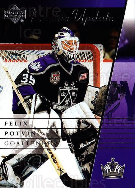2002-03 Upper Deck Rookie Update #48 Felix Potvin<br/>4 In Stock - $1.00 each - <a href=https://centericecollectibles.foxycart.com/cart?name=2002-03%20Upper%20Deck%20Rookie%20Update%20%2348%20Felix%20Potvin...&quantity_max=4&price=$1.00&code=109919 class=foxycart> Buy it now! </a>