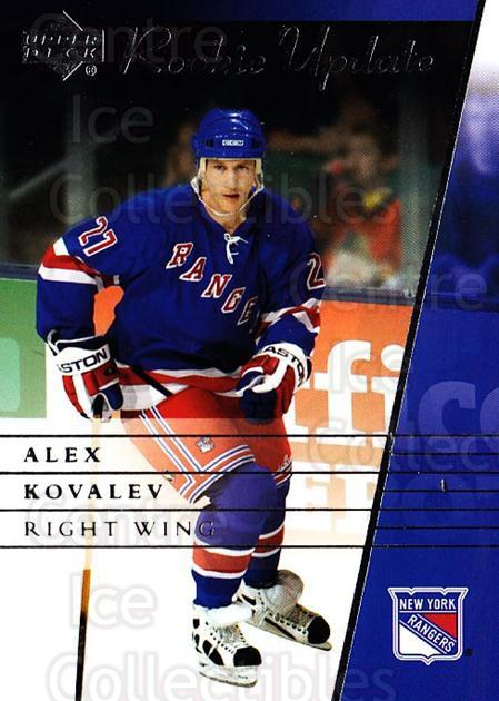 2002-03 Upper Deck Rookie Update #64 Alexei Kovalev<br/>6 In Stock - $1.00 each - <a href=https://centericecollectibles.foxycart.com/cart?name=2002-03%20Upper%20Deck%20Rookie%20Update%20%2364%20Alexei%20Kovalev...&quantity_max=6&price=$1.00&code=109934 class=foxycart> Buy it now! </a>