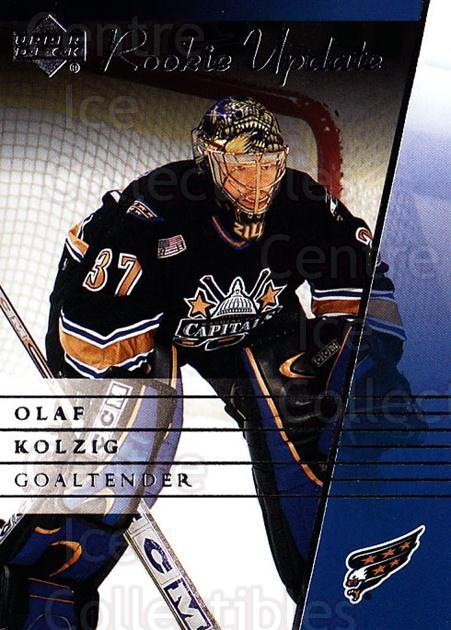 2002-03 Upper Deck Rookie Update #99 Olaf Kolzig<br/>8 In Stock - $1.00 each - <a href=https://centericecollectibles.foxycart.com/cart?name=2002-03%20Upper%20Deck%20Rookie%20Update%20%2399%20Olaf%20Kolzig...&quantity_max=8&price=$1.00&code=109971 class=foxycart> Buy it now! </a>