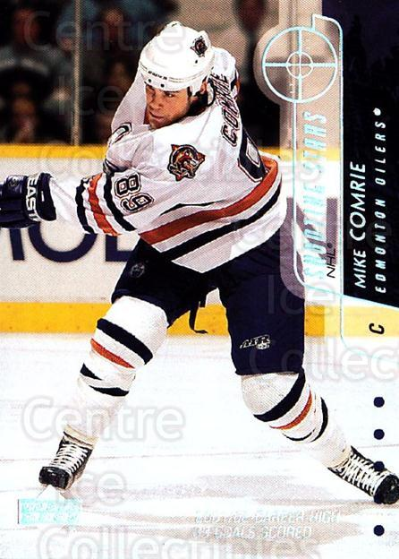 2002-03 Upper Deck Shooting Stars #8 Mike Comrie<br/>3 In Stock - $3.00 each - <a href=https://centericecollectibles.foxycart.com/cart?name=2002-03%20Upper%20Deck%20Shooting%20Stars%20%238%20Mike%20Comrie...&quantity_max=3&price=$3.00&code=109975 class=foxycart> Buy it now! </a>