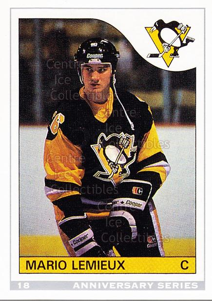 1992-93 O-Pee-Chee 25th Anniversary Inserts #18 Mario Lemieux<br/>16 In Stock - $2.00 each - <a href=https://centericecollectibles.foxycart.com/cart?name=1992-93%20O-Pee-Chee%2025th%20Anniversary%20Inserts%20%2318%20Mario%20Lemieux...&price=$2.00&code=11002 class=foxycart> Buy it now! </a>