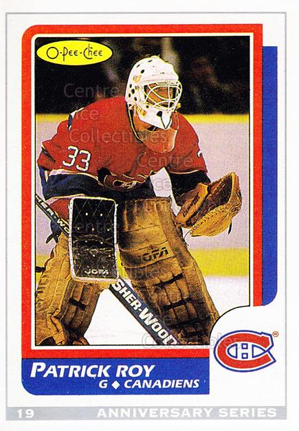 1992-93 O-Pee-Chee 25th Anniversary Inserts #19 Patrick Roy<br/>15 In Stock - $3.00 each - <a href=https://centericecollectibles.foxycart.com/cart?name=1992-93%20O-Pee-Chee%2025th%20Anniversary%20Inserts%20%2319%20Patrick%20Roy...&quantity_max=15&price=$3.00&code=11003 class=foxycart> Buy it now! </a>