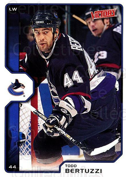 2002-03 UD Victory #209 Todd Bertuzzi<br/>4 In Stock - $1.00 each - <a href=https://centericecollectibles.foxycart.com/cart?name=2002-03%20UD%20Victory%20%23209%20Todd%20Bertuzzi...&quantity_max=4&price=$1.00&code=110132 class=foxycart> Buy it now! </a>