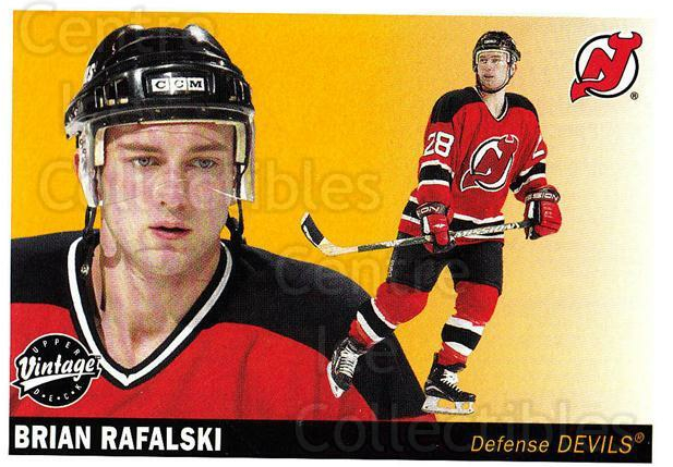 2002-03 UD Vintage #154 Brian Rafalski<br/>7 In Stock - $1.00 each - <a href=https://centericecollectibles.foxycart.com/cart?name=2002-03%20UD%20Vintage%20%23154%20Brian%20Rafalski...&quantity_max=7&price=$1.00&code=110213 class=foxycart> Buy it now! </a>
