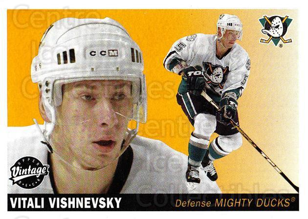 2002-03 UD Vintage #1 Vitali Vishnevsky<br/>10 In Stock - $1.00 each - <a href=https://centericecollectibles.foxycart.com/cart?name=2002-03%20UD%20Vintage%20%231%20Vitali%20Vishnevs...&quantity_max=10&price=$1.00&code=110216 class=foxycart> Buy it now! </a>