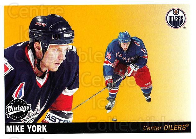 2002-03 UD Vintage #101 Mike York<br/>9 In Stock - $1.00 each - <a href=https://centericecollectibles.foxycart.com/cart?name=2002-03%20UD%20Vintage%20%23101%20Mike%20York...&quantity_max=9&price=$1.00&code=110219 class=foxycart> Buy it now! </a>