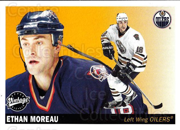 2002-03 UD Vintage #104 Ethan Moreau<br/>8 In Stock - $1.00 each - <a href=https://centericecollectibles.foxycart.com/cart?name=2002-03%20UD%20Vintage%20%23104%20Ethan%20Moreau...&quantity_max=8&price=$1.00&code=110221 class=foxycart> Buy it now! </a>