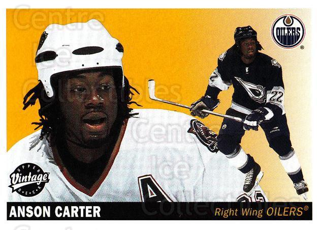 2002-03 UD Vintage #106 Anson Carter<br/>10 In Stock - $1.00 each - <a href=https://centericecollectibles.foxycart.com/cart?name=2002-03%20UD%20Vintage%20%23106%20Anson%20Carter...&quantity_max=10&price=$1.00&code=110223 class=foxycart> Buy it now! </a>