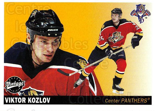 2002-03 UD Vintage #107 Viktor Kozlov<br/>6 In Stock - $1.00 each - <a href=https://centericecollectibles.foxycart.com/cart?name=2002-03%20UD%20Vintage%20%23107%20Viktor%20Kozlov...&quantity_max=6&price=$1.00&code=110224 class=foxycart> Buy it now! </a>