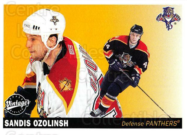 2002-03 UD Vintage #110 Sandis Ozolinsh<br/>12 In Stock - $1.00 each - <a href=https://centericecollectibles.foxycart.com/cart?name=2002-03%20UD%20Vintage%20%23110%20Sandis%20Ozolinsh...&quantity_max=12&price=$1.00&code=110228 class=foxycart> Buy it now! </a>