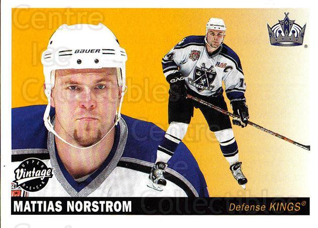 2002-03 UD Vintage #116 Mattias Norstrom<br/>9 In Stock - $1.00 each - <a href=https://centericecollectibles.foxycart.com/cart?name=2002-03%20UD%20Vintage%20%23116%20Mattias%20Norstro...&quantity_max=9&price=$1.00&code=110234 class=foxycart> Buy it now! </a>