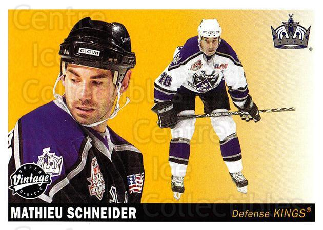 2002-03 UD Vintage #117 Mathieu Schneider<br/>10 In Stock - $1.00 each - <a href=https://centericecollectibles.foxycart.com/cart?name=2002-03%20UD%20Vintage%20%23117%20Mathieu%20Schneid...&quantity_max=10&price=$1.00&code=110235 class=foxycart> Buy it now! </a>