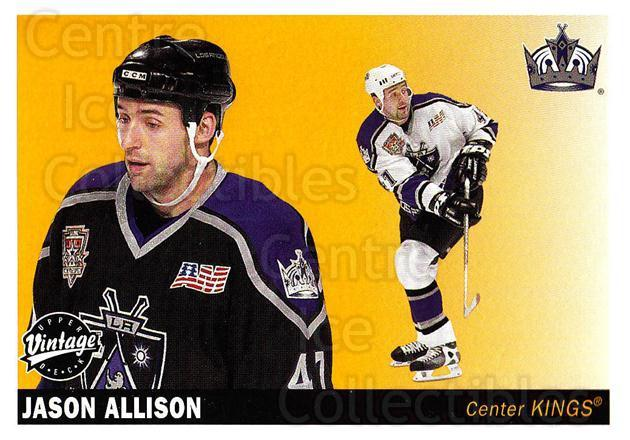 2002-03 UD Vintage #118 Jason Allison<br/>7 In Stock - $1.00 each - <a href=https://centericecollectibles.foxycart.com/cart?name=2002-03%20UD%20Vintage%20%23118%20Jason%20Allison...&quantity_max=7&price=$1.00&code=110236 class=foxycart> Buy it now! </a>