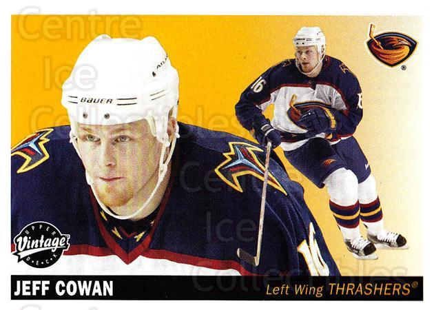 2002-03 UD Vintage #12 Jeff Cowan<br/>6 In Stock - $1.00 each - <a href=https://centericecollectibles.foxycart.com/cart?name=2002-03%20UD%20Vintage%20%2312%20Jeff%20Cowan...&quantity_max=6&price=$1.00&code=110238 class=foxycart> Buy it now! </a>