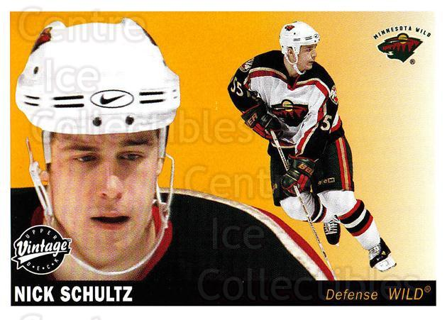 2002-03 UD Vintage #124 Nick Schultz<br/>6 In Stock - $1.00 each - <a href=https://centericecollectibles.foxycart.com/cart?name=2002-03%20UD%20Vintage%20%23124%20Nick%20Schultz...&quantity_max=6&price=$1.00&code=110243 class=foxycart> Buy it now! </a>