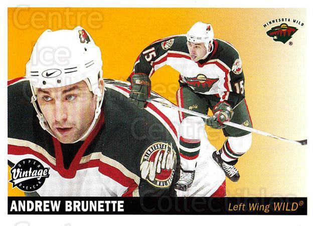 2002-03 UD Vintage #130 Andrew Brunette<br/>7 In Stock - $1.00 each - <a href=https://centericecollectibles.foxycart.com/cart?name=2002-03%20UD%20Vintage%20%23130%20Andrew%20Brunette...&quantity_max=7&price=$1.00&code=110249 class=foxycart> Buy it now! </a>