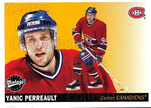2002-03 UD Vintage #131 Yanic Perreault<br/>5 In Stock - $1.00 each - <a href=https://centericecollectibles.foxycart.com/cart?name=2002-03%20UD%20Vintage%20%23131%20Yanic%20Perreault...&quantity_max=5&price=$1.00&code=110250 class=foxycart> Buy it now! </a>