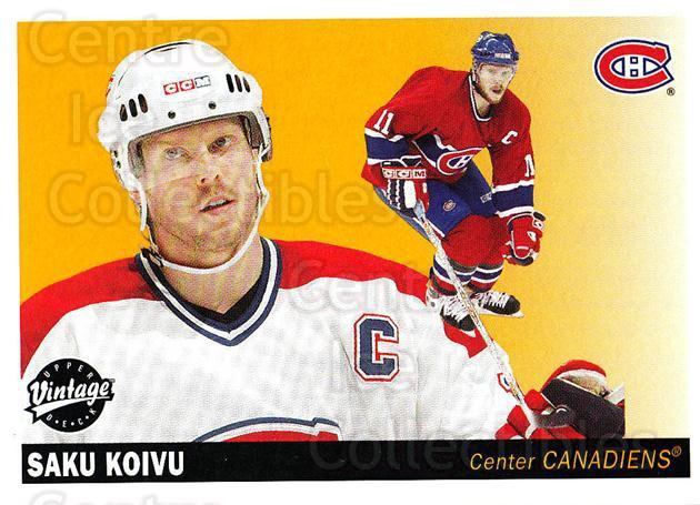 2002-03 UD Vintage #132 Saku Koivu<br/>3 In Stock - $2.00 each - <a href=https://centericecollectibles.foxycart.com/cart?name=2002-03%20UD%20Vintage%20%23132%20Saku%20Koivu...&quantity_max=3&price=$2.00&code=110251 class=foxycart> Buy it now! </a>