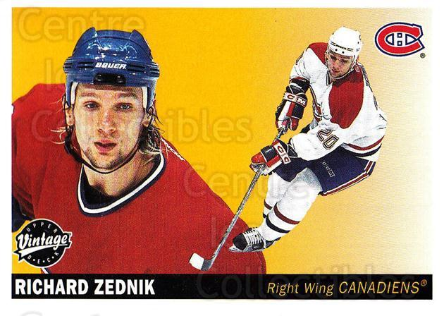 2002-03 UD Vintage #133 Richard Zednik<br/>5 In Stock - $1.00 each - <a href=https://centericecollectibles.foxycart.com/cart?name=2002-03%20UD%20Vintage%20%23133%20Richard%20Zednik...&quantity_max=5&price=$1.00&code=110252 class=foxycart> Buy it now! </a>