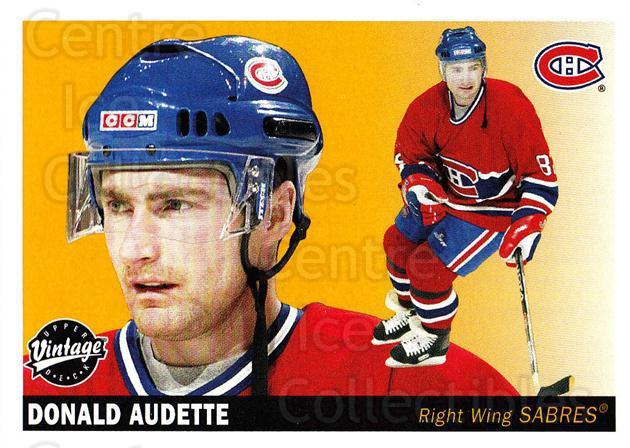 2002-03 UD Vintage #135 Donald Audette<br/>7 In Stock - $1.00 each - <a href=https://centericecollectibles.foxycart.com/cart?name=2002-03%20UD%20Vintage%20%23135%20Donald%20Audette...&quantity_max=7&price=$1.00&code=110253 class=foxycart> Buy it now! </a>