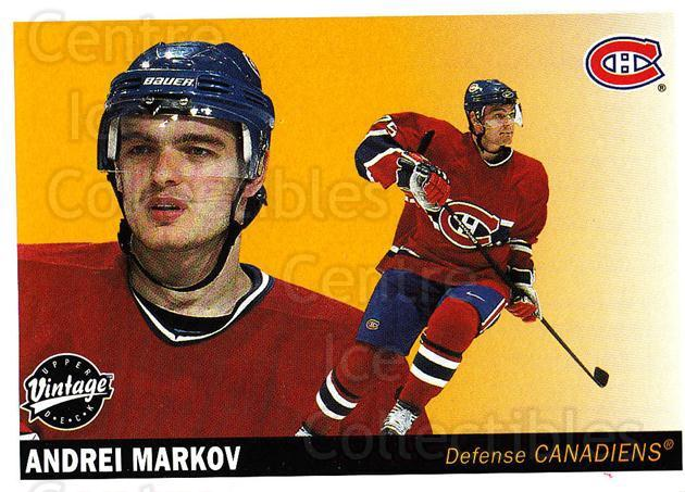 2002-03 UD Vintage #137 Andrei Markov<br/>8 In Stock - $1.00 each - <a href=https://centericecollectibles.foxycart.com/cart?name=2002-03%20UD%20Vintage%20%23137%20Andrei%20Markov...&quantity_max=8&price=$1.00&code=110255 class=foxycart> Buy it now! </a>