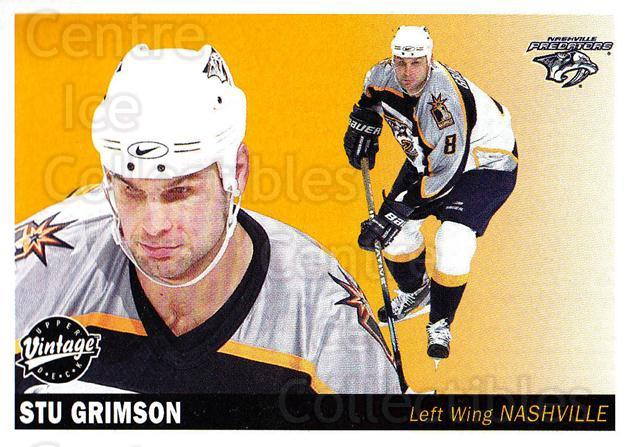 2002-03 UD Vintage #139 Stu Grimson<br/>6 In Stock - $1.00 each - <a href=https://centericecollectibles.foxycart.com/cart?name=2002-03%20UD%20Vintage%20%23139%20Stu%20Grimson...&quantity_max=6&price=$1.00&code=110257 class=foxycart> Buy it now! </a>