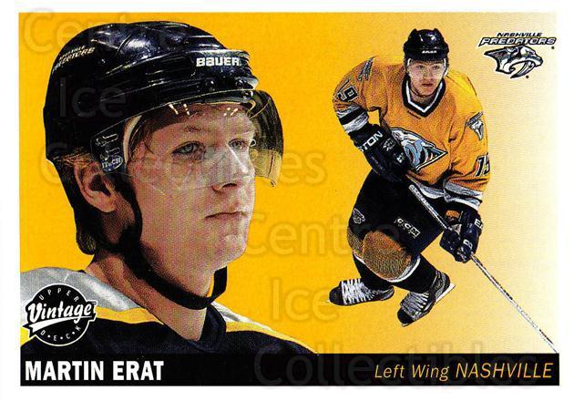 2002-03 UD Vintage #142 Martin Erat<br/>10 In Stock - $1.00 each - <a href=https://centericecollectibles.foxycart.com/cart?name=2002-03%20UD%20Vintage%20%23142%20Martin%20Erat...&quantity_max=10&price=$1.00&code=110261 class=foxycart> Buy it now! </a>