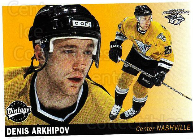 2002-03 UD Vintage #144 Denis Arkhipov<br/>12 In Stock - $1.00 each - <a href=https://centericecollectibles.foxycart.com/cart?name=2002-03%20UD%20Vintage%20%23144%20Denis%20Arkhipov...&quantity_max=12&price=$1.00&code=110263 class=foxycart> Buy it now! </a>