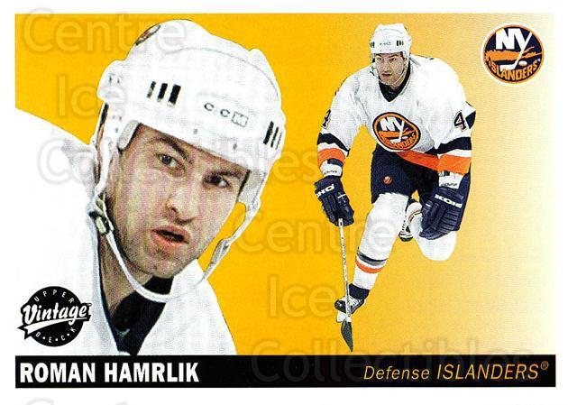 2002-03 UD Vintage #155 Roman Hamrlik<br/>7 In Stock - $1.00 each - <a href=https://centericecollectibles.foxycart.com/cart?name=2002-03%20UD%20Vintage%20%23155%20Roman%20Hamrlik...&quantity_max=7&price=$1.00&code=110267 class=foxycart> Buy it now! </a>