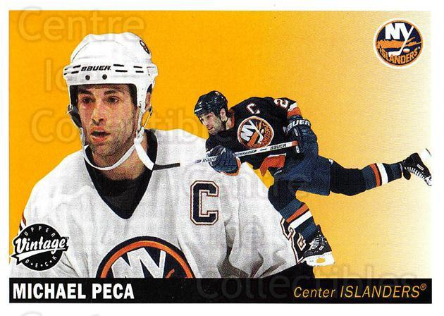 2002-03 UD Vintage #157 Mike Peca<br/>8 In Stock - $1.00 each - <a href=https://centericecollectibles.foxycart.com/cart?name=2002-03%20UD%20Vintage%20%23157%20Mike%20Peca...&quantity_max=8&price=$1.00&code=110269 class=foxycart> Buy it now! </a>