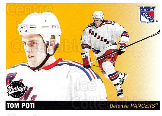 2002-03 UD Vintage #164 Tom Poti<br/>7 In Stock - $1.00 each - <a href=https://centericecollectibles.foxycart.com/cart?name=2002-03%20UD%20Vintage%20%23164%20Tom%20Poti...&quantity_max=7&price=$1.00&code=110276 class=foxycart> Buy it now! </a>