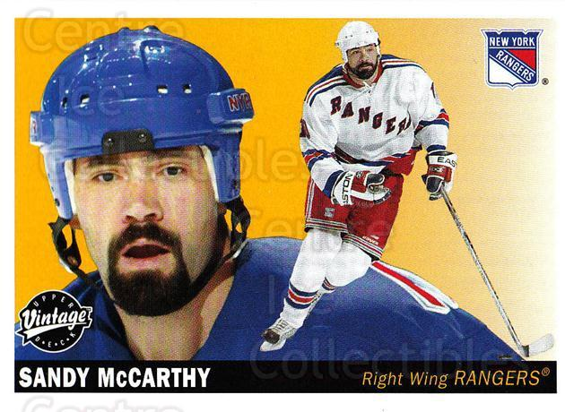 2002-03 UD Vintage #165 Sandy McCarthy<br/>6 In Stock - $1.00 each - <a href=https://centericecollectibles.foxycart.com/cart?name=2002-03%20UD%20Vintage%20%23165%20Sandy%20McCarthy...&quantity_max=6&price=$1.00&code=110277 class=foxycart> Buy it now! </a>