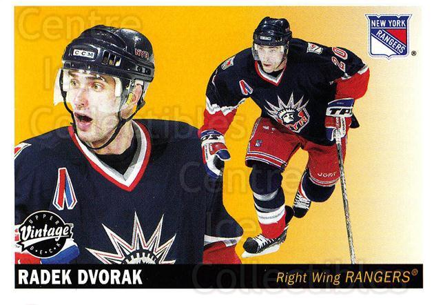 2002-03 UD Vintage #166 Radek Dvorak<br/>9 In Stock - $1.00 each - <a href=https://centericecollectibles.foxycart.com/cart?name=2002-03%20UD%20Vintage%20%23166%20Radek%20Dvorak...&quantity_max=9&price=$1.00&code=110278 class=foxycart> Buy it now! </a>