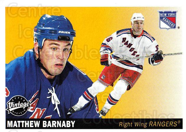 2002-03 UD Vintage #169 Matthew Barnaby<br/>11 In Stock - $1.00 each - <a href=https://centericecollectibles.foxycart.com/cart?name=2002-03%20UD%20Vintage%20%23169%20Matthew%20Barnaby...&quantity_max=11&price=$1.00&code=110280 class=foxycart> Buy it now! </a>