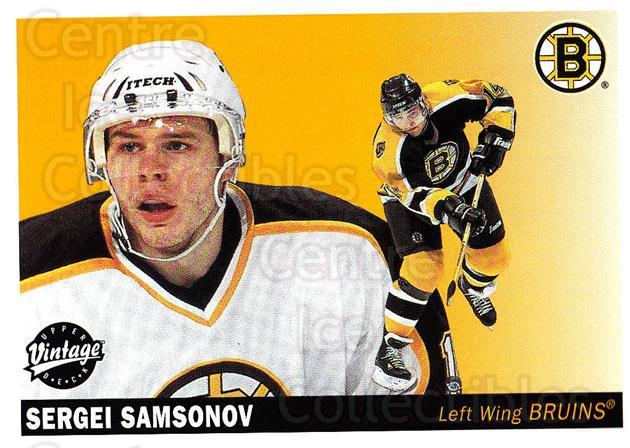 2002-03 UD Vintage #17 Sergei Samsonov<br/>8 In Stock - $1.00 each - <a href=https://centericecollectibles.foxycart.com/cart?name=2002-03%20UD%20Vintage%20%2317%20Sergei%20Samsonov...&quantity_max=8&price=$1.00&code=110281 class=foxycart> Buy it now! </a>