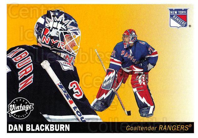2002-03 UD Vintage #172 Dan Blackburn<br/>9 In Stock - $1.00 each - <a href=https://centericecollectibles.foxycart.com/cart?name=2002-03%20UD%20Vintage%20%23172%20Dan%20Blackburn...&quantity_max=9&price=$1.00&code=110284 class=foxycart> Buy it now! </a>