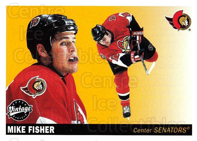 2002-03 UD Vintage #177 Mike Fisher<br/>7 In Stock - $1.00 each - <a href=https://centericecollectibles.foxycart.com/cart?name=2002-03%20UD%20Vintage%20%23177%20Mike%20Fisher...&quantity_max=7&price=$1.00&code=110289 class=foxycart> Buy it now! </a>