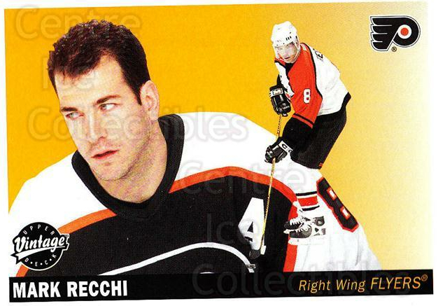 2002-03 UD Vintage #185 Mark Recchi<br/>7 In Stock - $1.00 each - <a href=https://centericecollectibles.foxycart.com/cart?name=2002-03%20UD%20Vintage%20%23185%20Mark%20Recchi...&quantity_max=7&price=$1.00&code=110297 class=foxycart> Buy it now! </a>