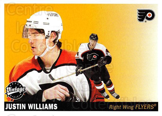 2002-03 UD Vintage #187 Justin Williams<br/>7 In Stock - $1.00 each - <a href=https://centericecollectibles.foxycart.com/cart?name=2002-03%20UD%20Vintage%20%23187%20Justin%20Williams...&quantity_max=7&price=$1.00&code=110299 class=foxycart> Buy it now! </a>