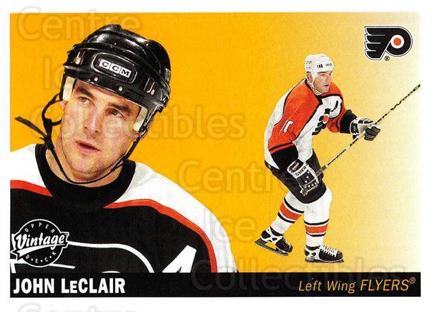 2002-03 UD Vintage #188 John LeClair<br/>7 In Stock - $1.00 each - <a href=https://centericecollectibles.foxycart.com/cart?name=2002-03%20UD%20Vintage%20%23188%20John%20LeClair...&quantity_max=7&price=$1.00&code=110300 class=foxycart> Buy it now! </a>